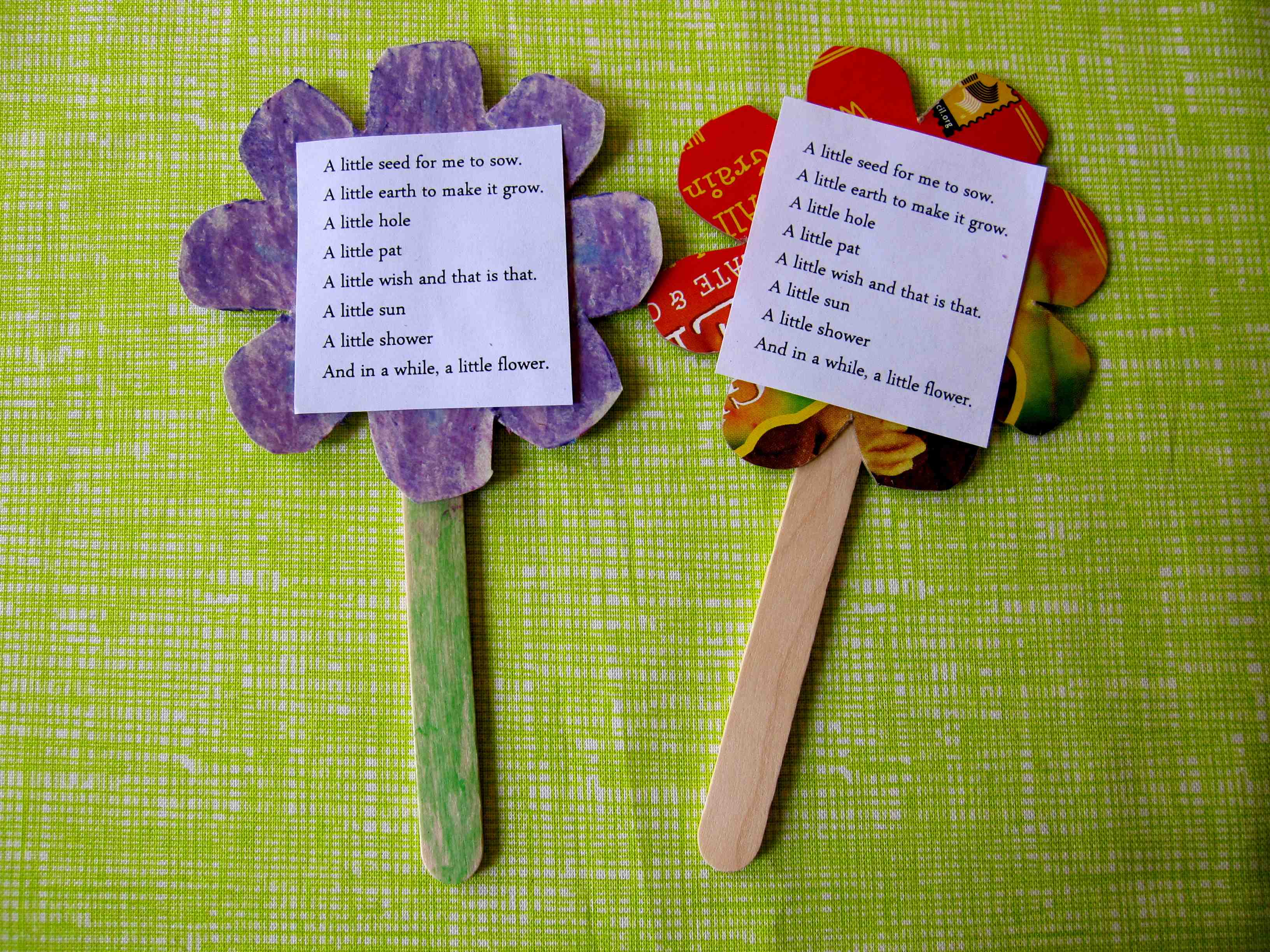 Uncategorized Flower Poem poetry in nature sturdy for common things and then decorate their flowers whichever way they preferred could use the printed side of cardboard box as front glue poem on or th