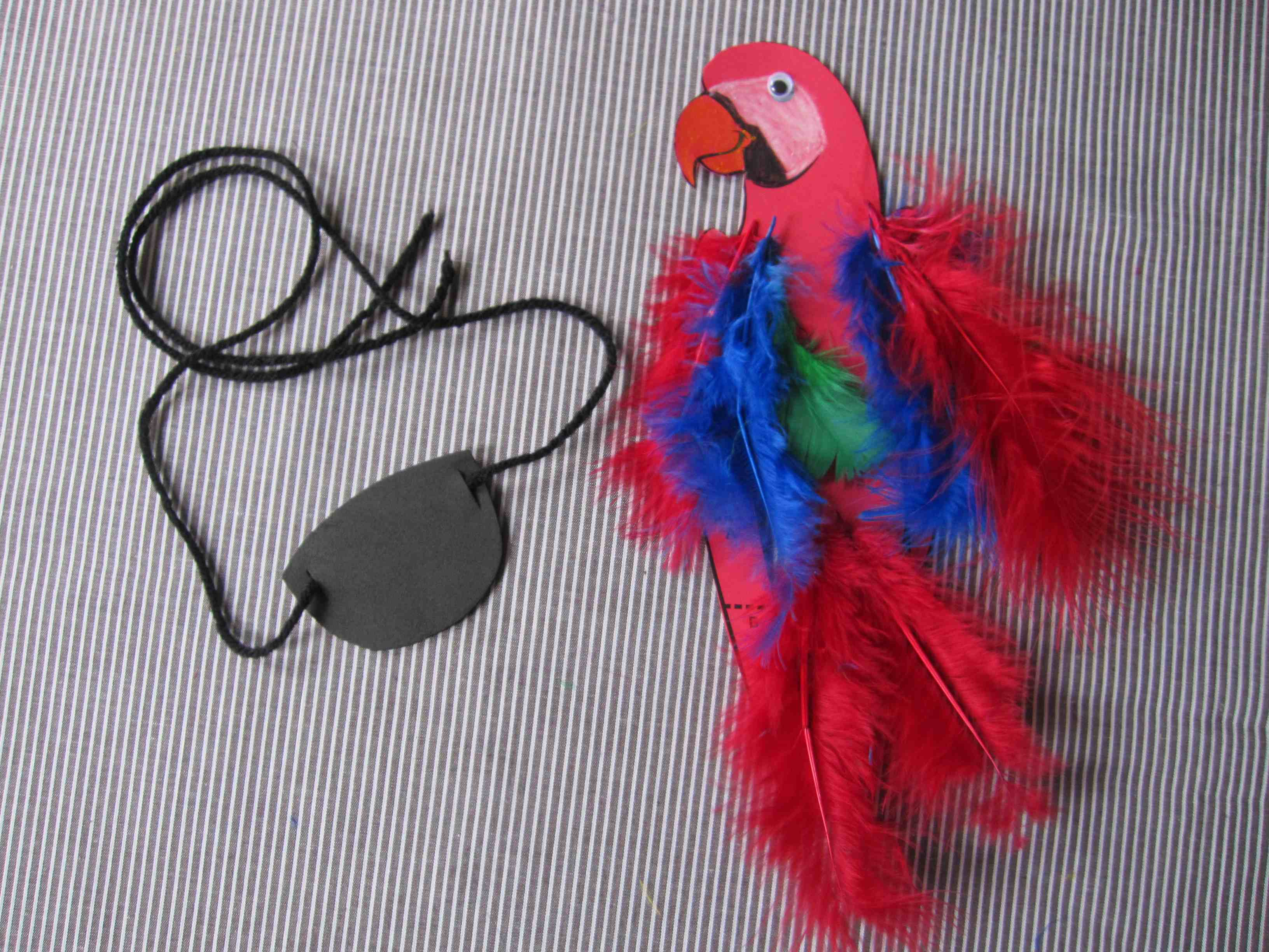 Pirate crafts for toddlers - Pirate Craft Eye Patches And Parrots Arrr