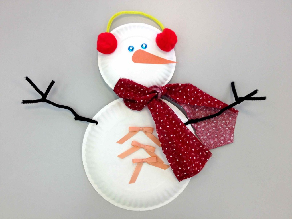 paper plate snowman Paper plate snowman make a jumbo snowman for your front door or a smaller one for your room either way [.