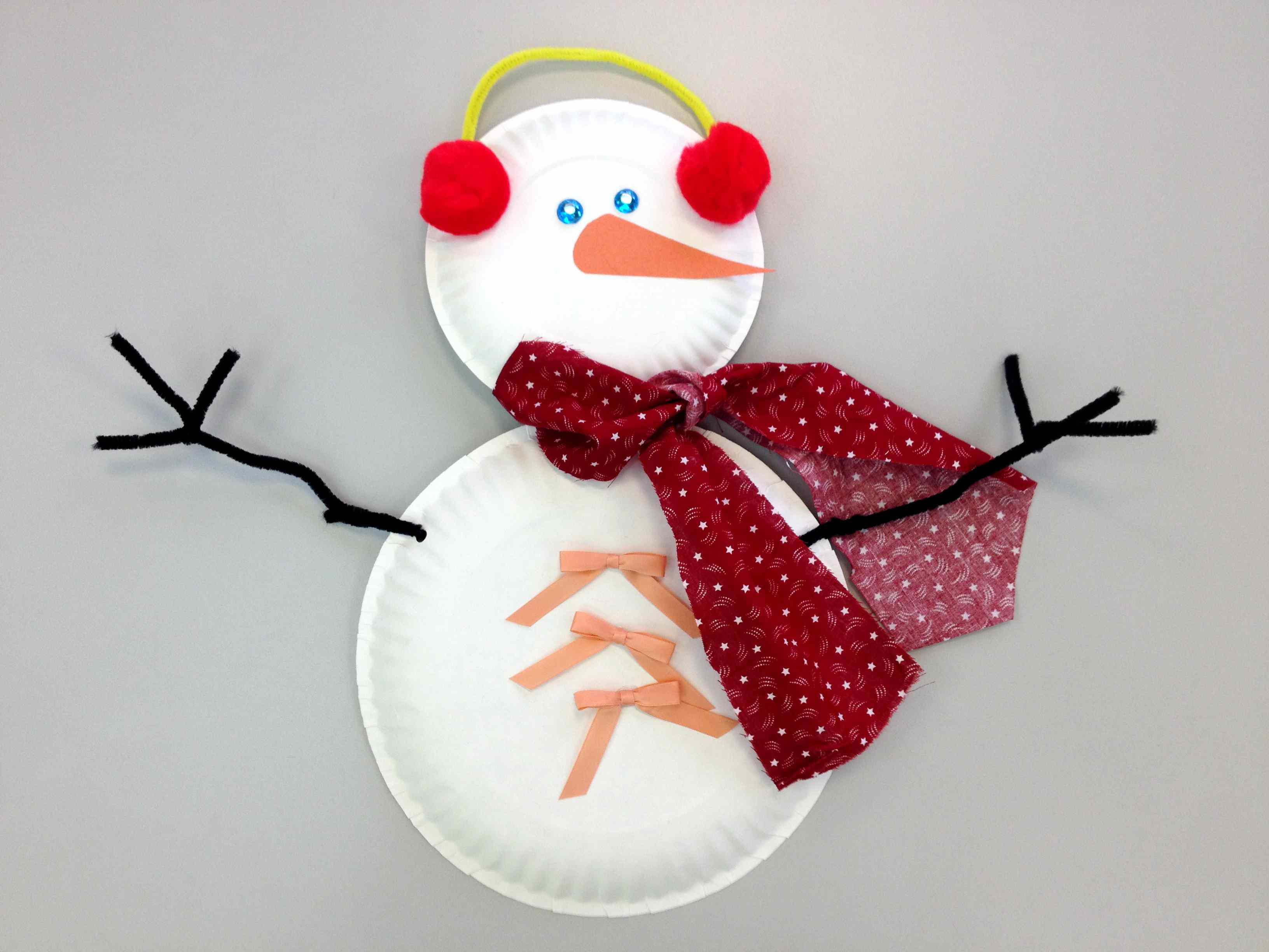 Paper Plate Snowman Craft & Snowman Storytime : Sturdy for Common Things