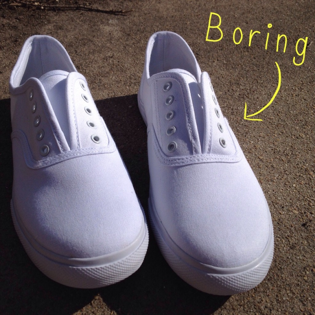 boring white shoes