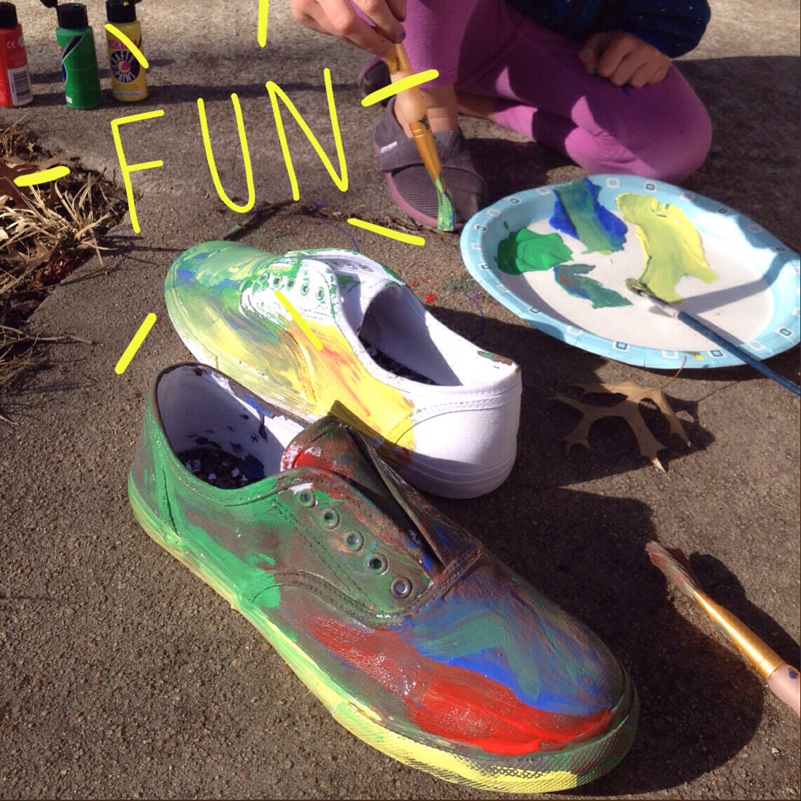 d9104443af9d Wanna let kids paint your shoes  Or their own shoes  The process is  ridiculously simple.