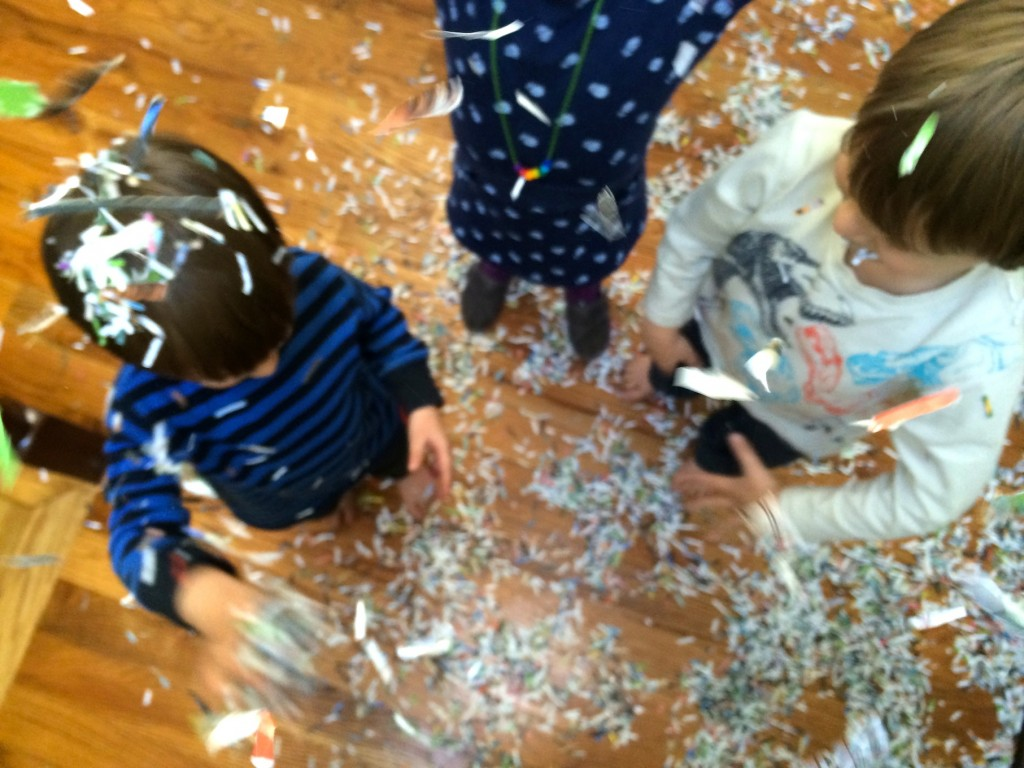 shredded paper play