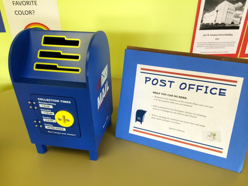 post office station at library