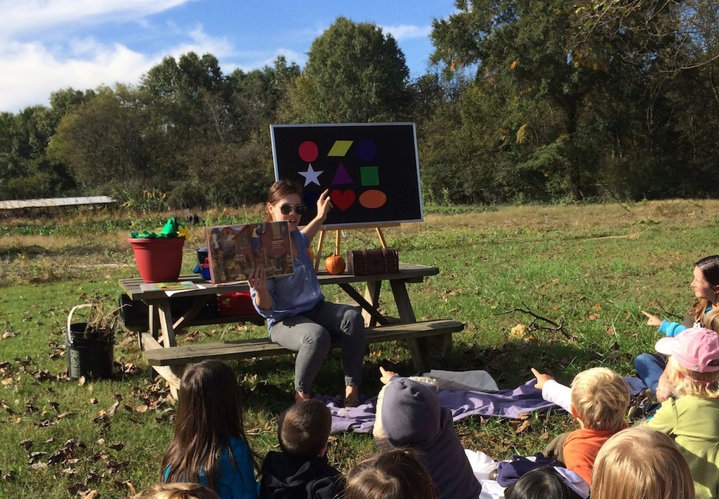 pumpkin and compost storytime