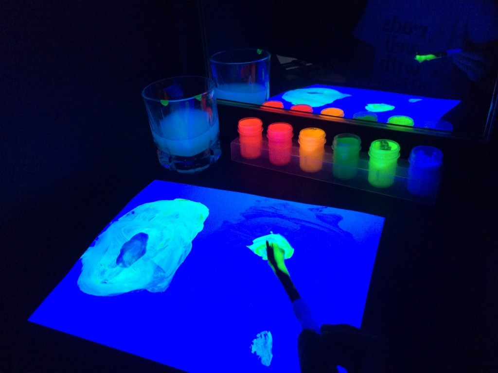 black light booth painting