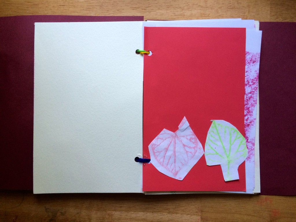 how to make a leaf book 10