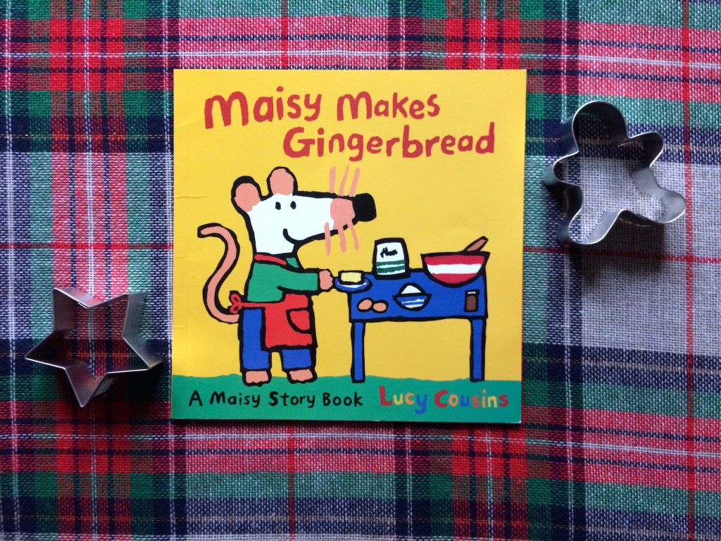 Gingerbread books and fun for kids. Read Maisy Makes Gingerbread, learn a gingerbread fingerplay, try one of the many gingerbread play suggestions
