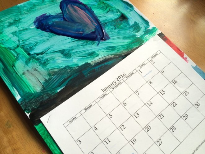 Calendar Art For Kids : Diy recycled kid s art calendar sturdy for common things
