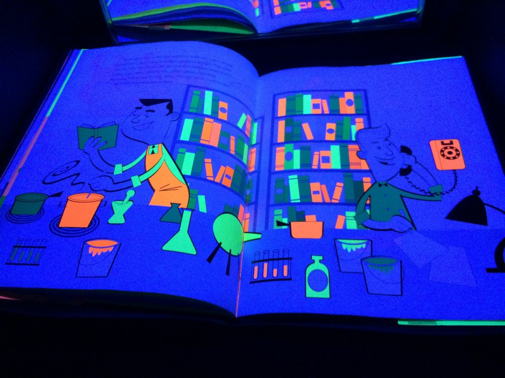 The Day-Glo Brothers - Books for the Black Light - Explore flouresent colors and glow-in-the-dark books in an entirely different light Booth