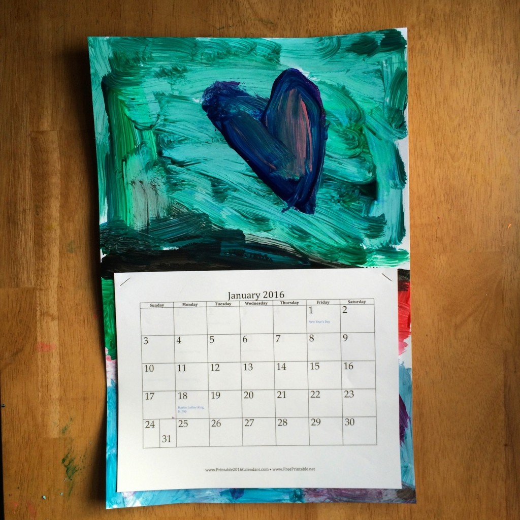 Diy Kids Calendar : Diy recycled kid s art calendar sturdy for common things