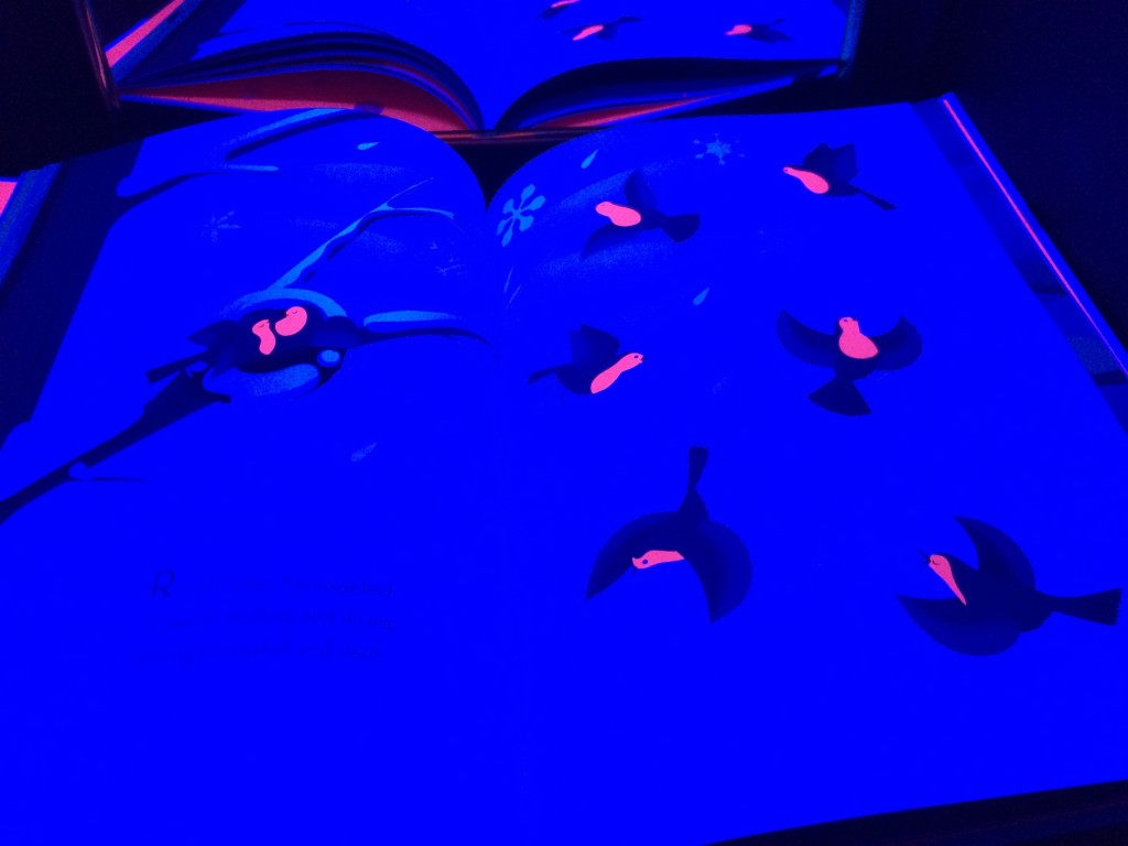 Beautiful Birds - Glowing Books for the Black Light Booth