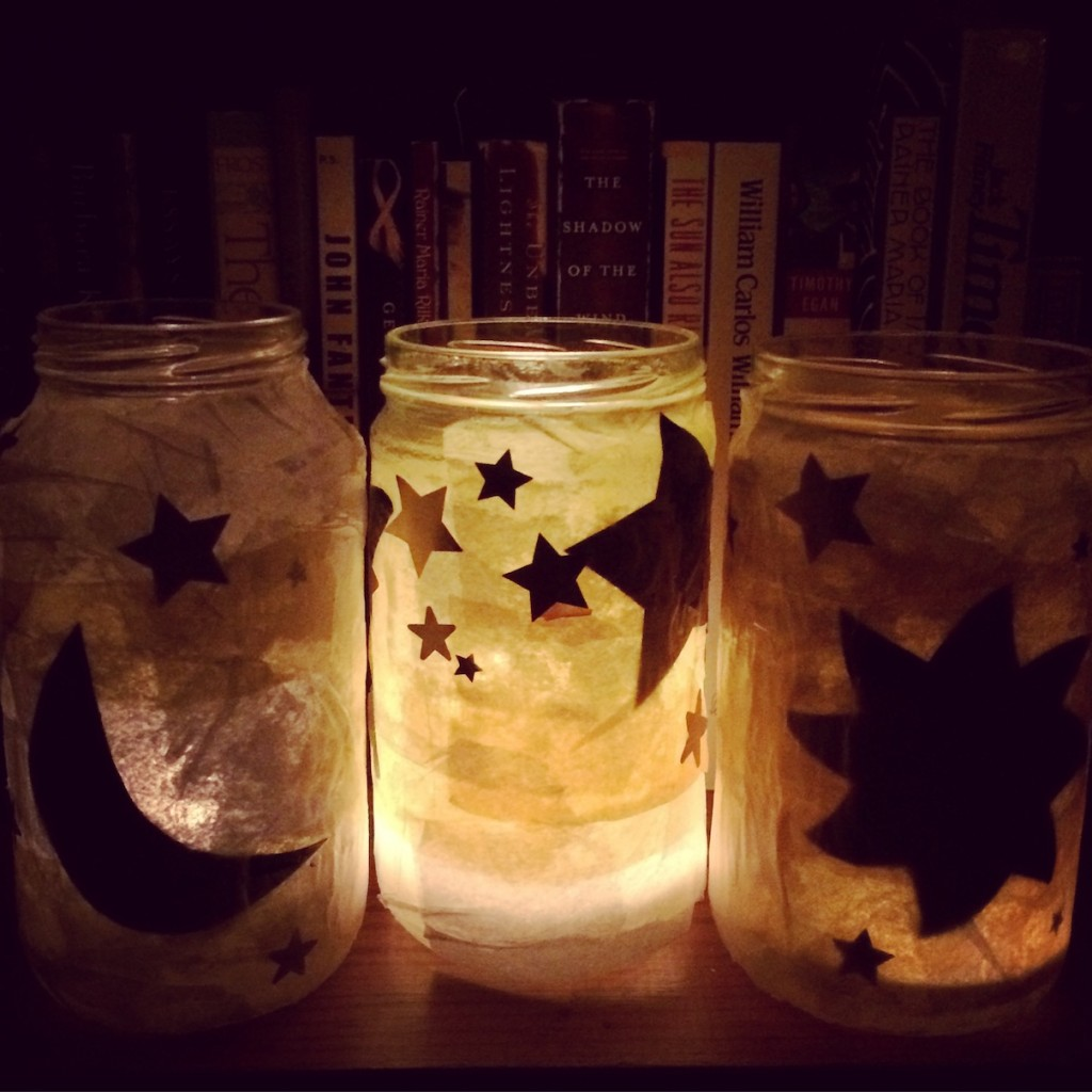 DIY lanterns for celebrating Winter Solstice