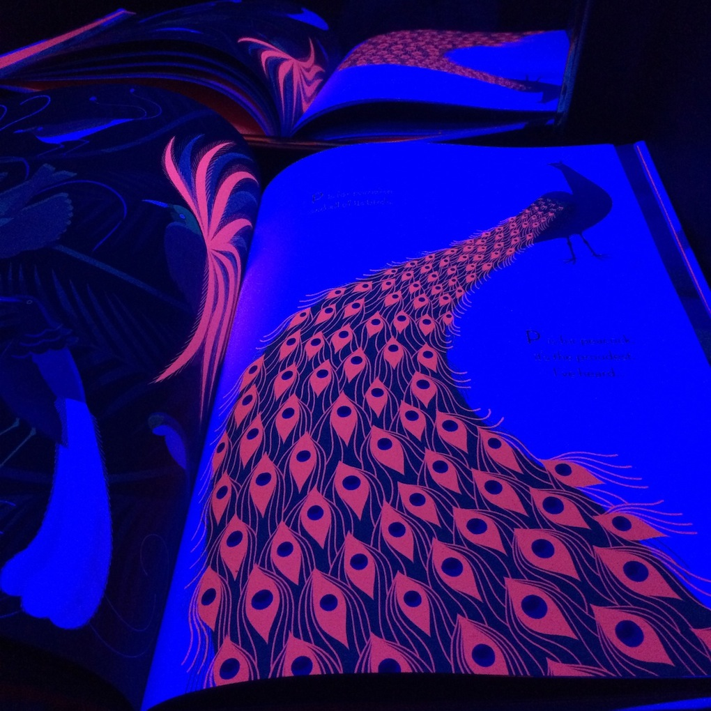In the past, we've used the black light booth for light play or art projects, but lately it has been an enchanting way to explore books