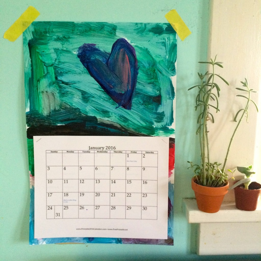 Recycle children's art into a wall calender via SfCT