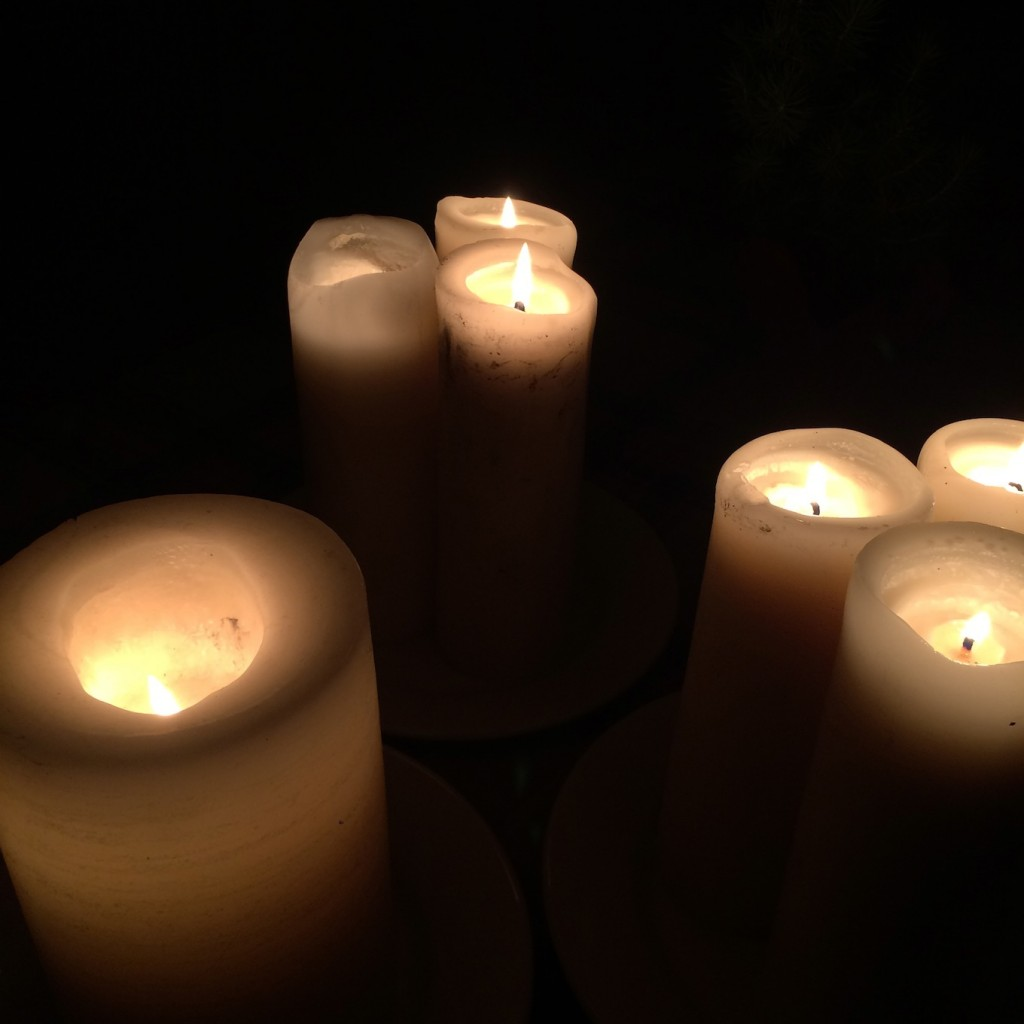 day of candlelight on winter solstice