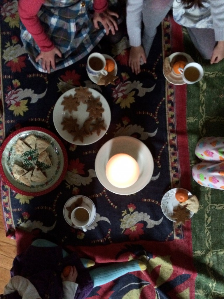 winter solstice tea with friends