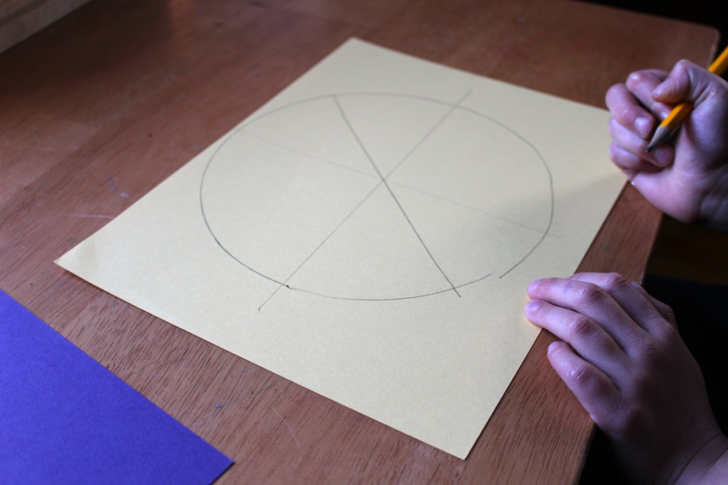 pie art project is a basic introduction to the concept of fractions