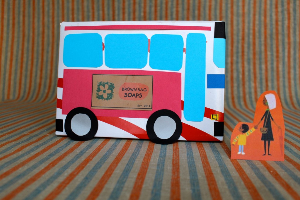 Last Stop on Market Street 3D Bus Art Project - Make a bus like the one CJ and Nana ride using a recycled box and paper scraps
