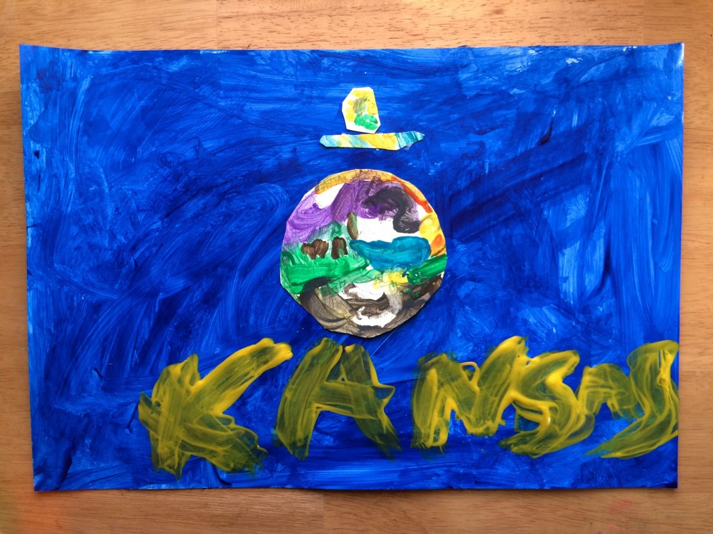 Make a Kansas flag for Kansas Day