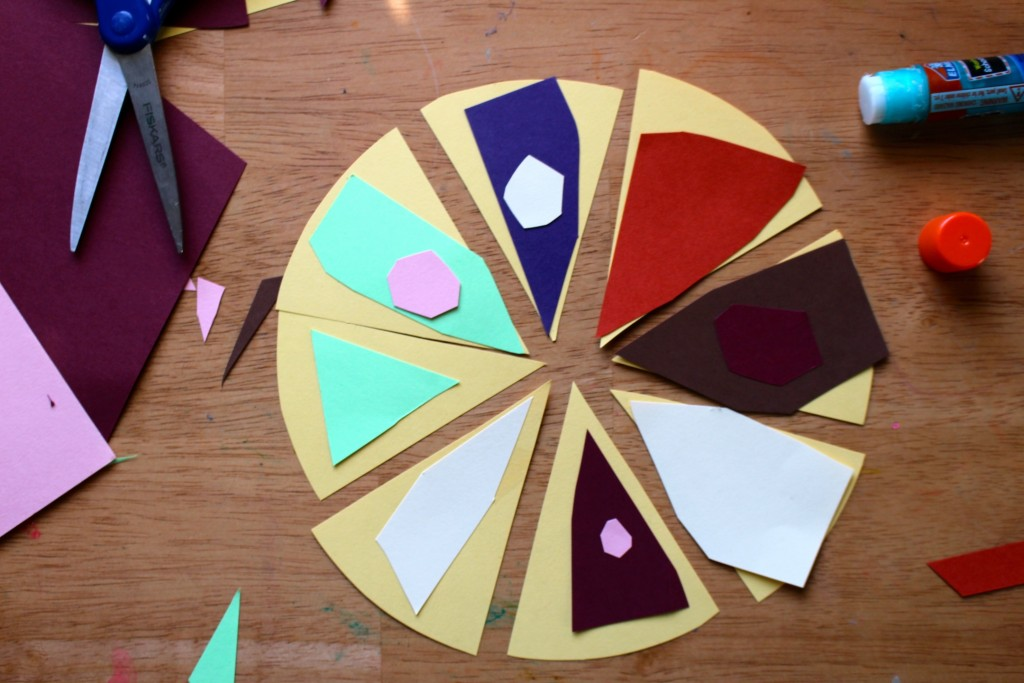 Pie Art Project for kids