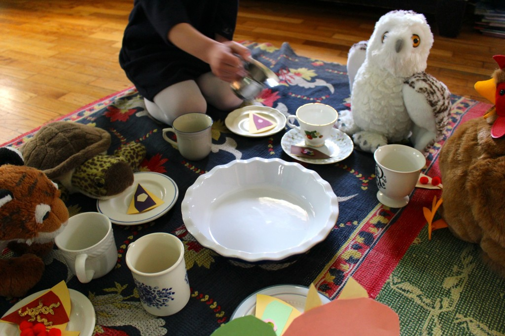 Winter Tea Party pretend play for kids