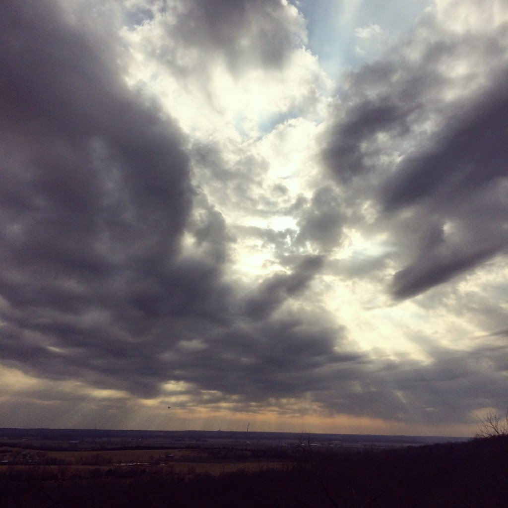 kansas skies in february