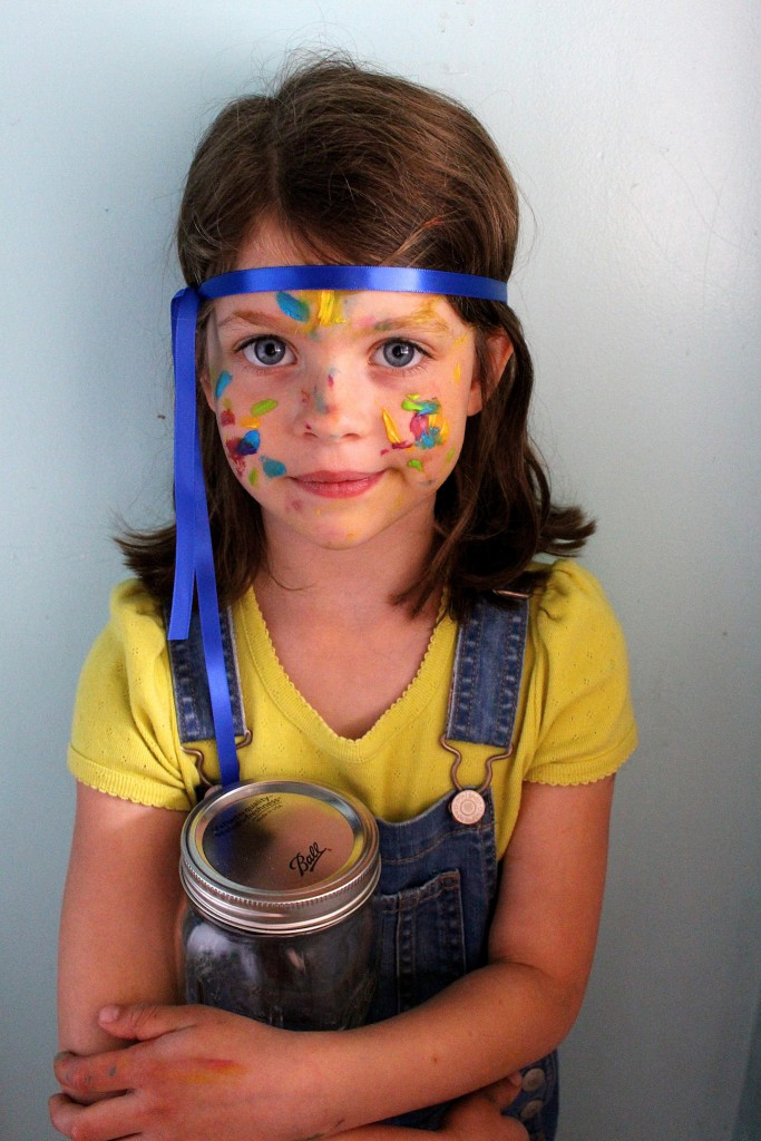 Swatch The Girl Who Loved Color face painting activity