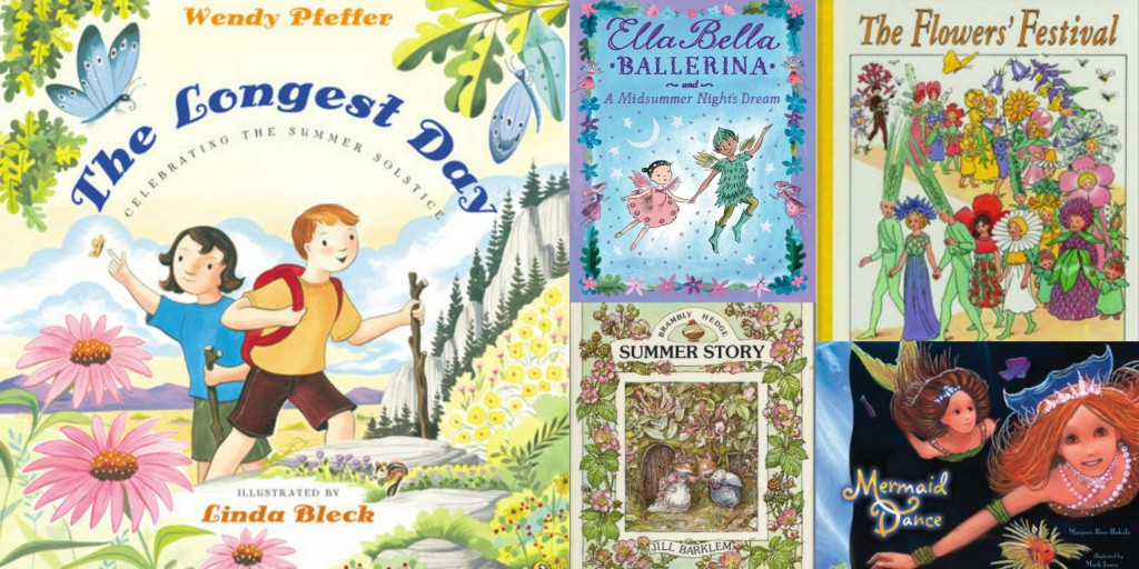 Children's books for summer solstice and midsummer