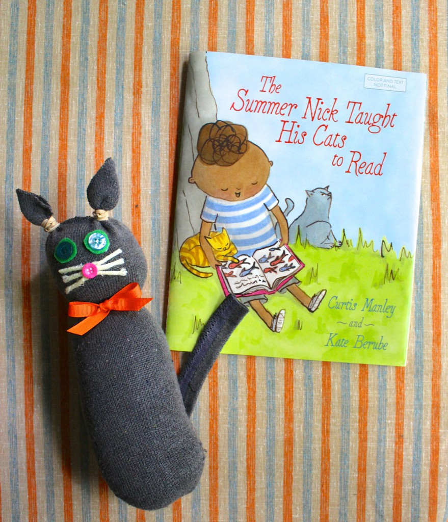 The Summer Nick Taught His Cats to Read by Curtis Manley and Kate Berube book + craft