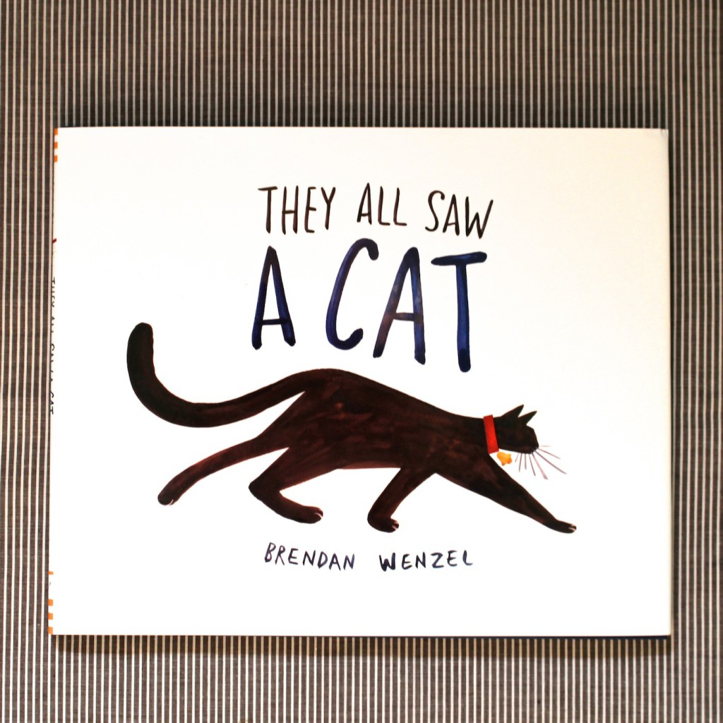 They All Saw A Cat by Brendan Wenzel review + animal eyesight and perspective activity