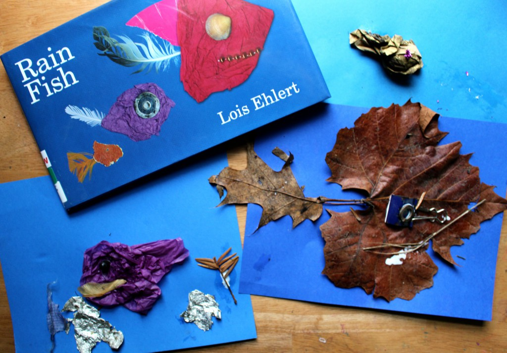 Art and nature collide making Rain Fish out of debris found after a rainstorm- A fun rainy day project for kids of all ages