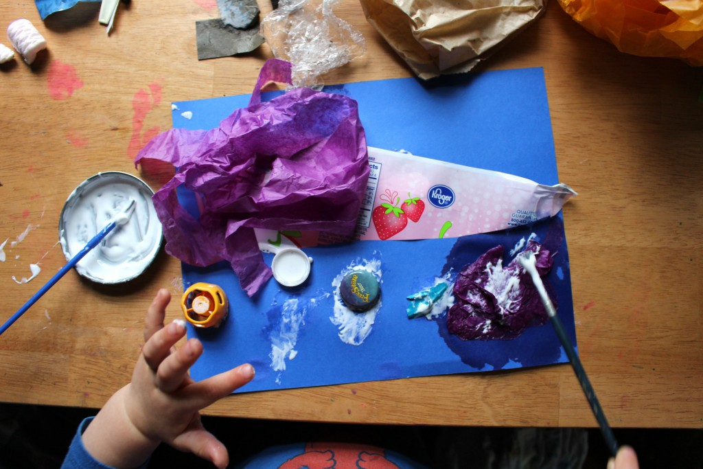 Rainy day craft for kids-- Making Rain fish