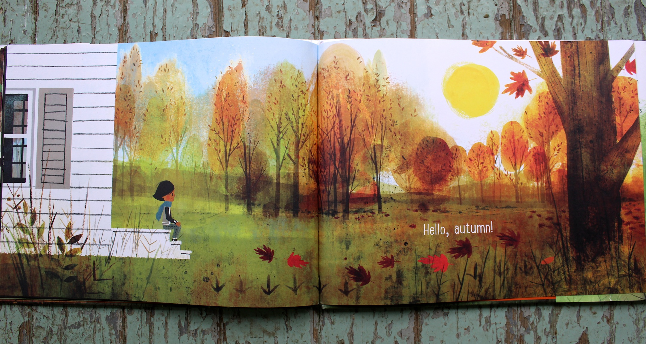 Goodbye Summer, Hello Autumn Is Rich In Color, Softly Transforming From  Vibrant Greens Of Summer To The End Of The Booksu0027s Blazing Burnt Oranges.