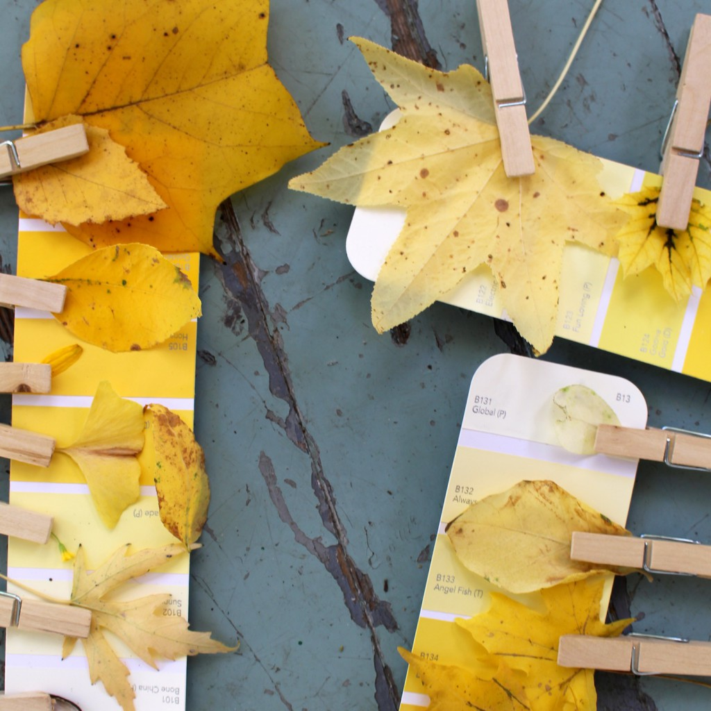 Yellow Time autumn color theory craft for kids